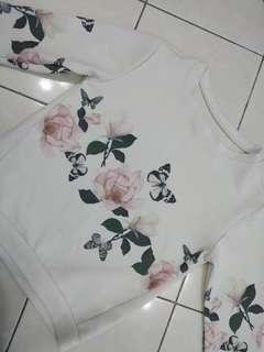 Floral Cream Long Sleeve