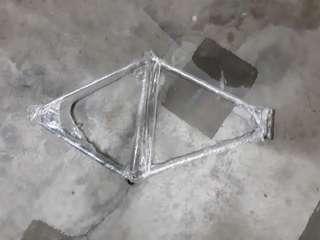 Old steel frame