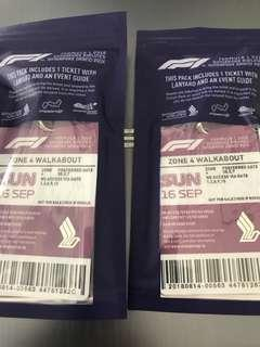 F1 tickets - reserved