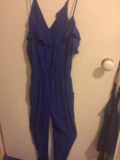 Forever new jumpsuit blue