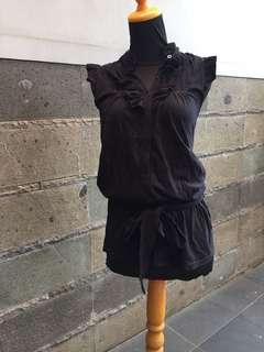 Zara atasan hitam kutung