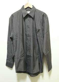 🚚 🔥古著 格子 格紋 長袖 襯衫 上衣 (深紫/黃) 休閒 百搭 稀有 老品 復古 Vintage 近全新