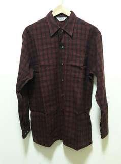 🚚 🔥古著 格子 格紋 長袖 襯衫 上衣 百搭 休閒 稀有 老品 復古 Vintage