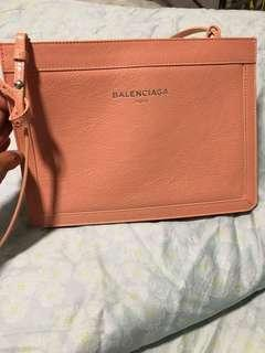 Balenciaga Navy Pochette Leather ( Peach) (Last Deal)