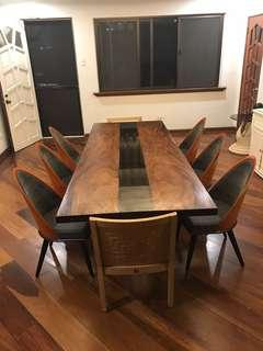 10 Seaters Solid Acacia Wood Dining Table