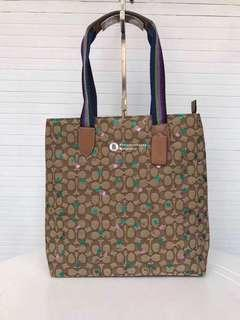 Coach Tote in Signature Jacquard with cherry print