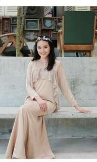 Lisa Adam Zalikha Kurung M size in Nude