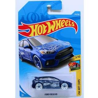 Hotwheels 2018 HW Art Cars Ford Focus RS