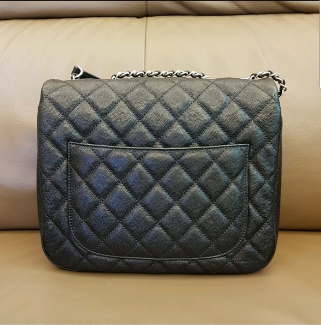 201ddf49c920 2018 CHANEL Urban Companion Soft Caviar Black Classic Flap Bag ...