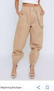 Glassons High Waisted Beige Cargo Pants
