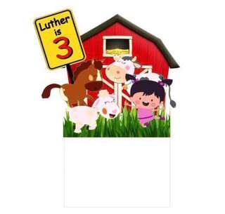 Little Lola Farm Birthday Cake Topper Set