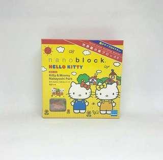 Nanoblock Hello Kitty nbh 056 Kitty and Mimi Nakayoshi Park | nano block
