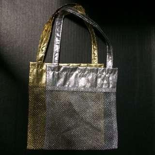 New Gold silver Mesh Carrier Gift Bag