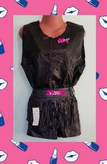 Leather Top and short terno
