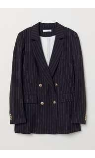 New arrival striped blazer with gold buttons