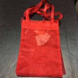 New Red Satin Cloth Gift Bag