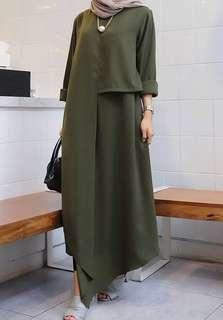 Army long dress