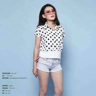 Retro dots blouse