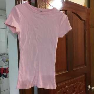 🚚 Lativ粉色羅紋貼身上衣