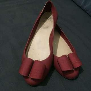 Maroon Jelly Shoes