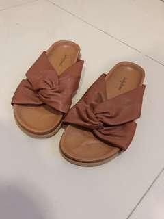 Something Borrowed Brown Sandals - size38