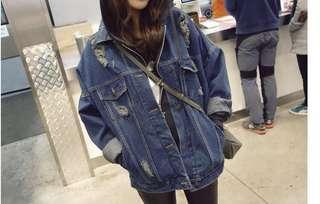 Oversized Dark Denim Jacket