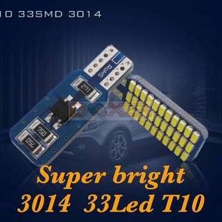 2 pcs T10 3014  33Led Light