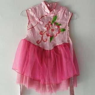 Chinese dress pink