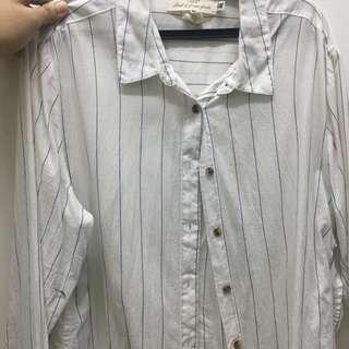 Striped White Polo
