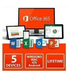 最新Office 365! life time 長用 mac,5部機 support 5 devices, Professional plus 專業版!