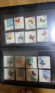 China butterfly old stamp 20 pcs set.