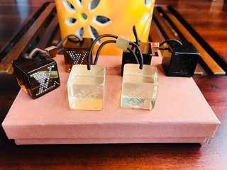 Authentic Vintage Louis Vuitton Cubes hair ties
