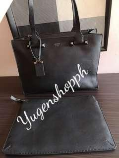 Guess Large Tote Bag with Free pouch inside Authentic Brand new