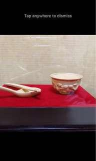 999 gold plated rice bowl