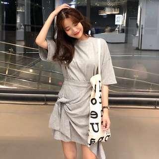 Grey Top + Skirt