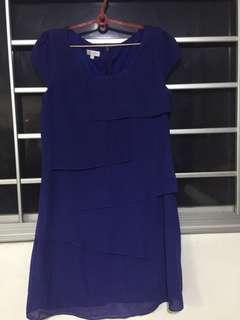 Embre Royal Blue Shift Dress