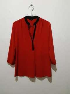 The Executive Red Blouse