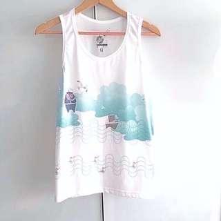 $10 SALE: BN Pirate White Long Tank Top (do you see this marked sold? no. then OBVIOUSLY ITS AVAILABLE)