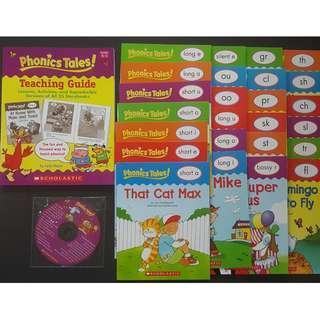 Scholastics Phonics Tales & Sight Word Tales 25 books each Montessori book Children's Day Sale