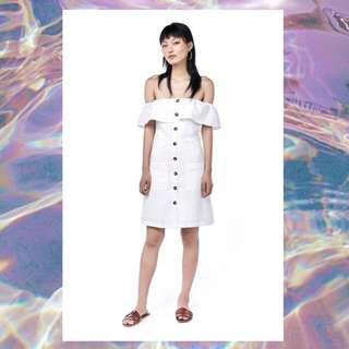 9022aa220e The Editor Market - LORITA LINEN OFF-SHOULDER DRESS