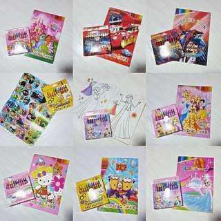 [Bundle Deals] Colouring Book with crayon Set - Goodie Bag/ Goody Bag / Children Day gift