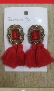 Tassel Earing - Red