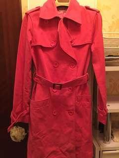 桃紅色Trench Coat