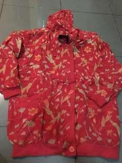 Jaket hoodie bunga