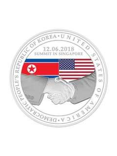 (Silver) United States - North Korea Summit 2018 1 oz 999 Fine Silver Proof Medallion [1st Issue]