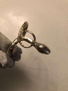 Vintage silver snake cuff bracelet