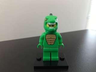 Lego series 5 Lizard Man minifigure minifig costume