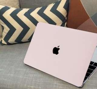 🔥INSTOCKS Pastel Pink Baby Pink Macbook Apple Laptop Case Protective HardCover