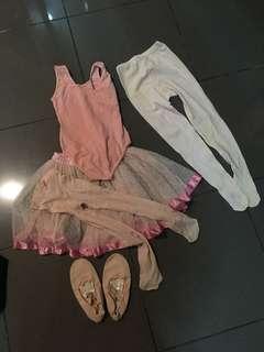 Baju ballet 1 set (2 stockings)