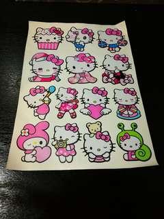 Hello Kitty Waterproof Stickers / Decal